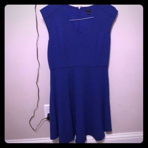 Ann Taylor size 6 blue fit and flare dress